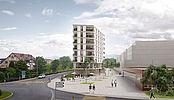 Immeuble de logements locatifs, bureaux et commerces pour Les Retraites Populaires à Gland