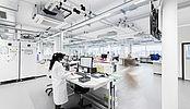 Aménagement d'une surface brute en laboratoire d'analyses médicales pour Risch.ch à Crissier